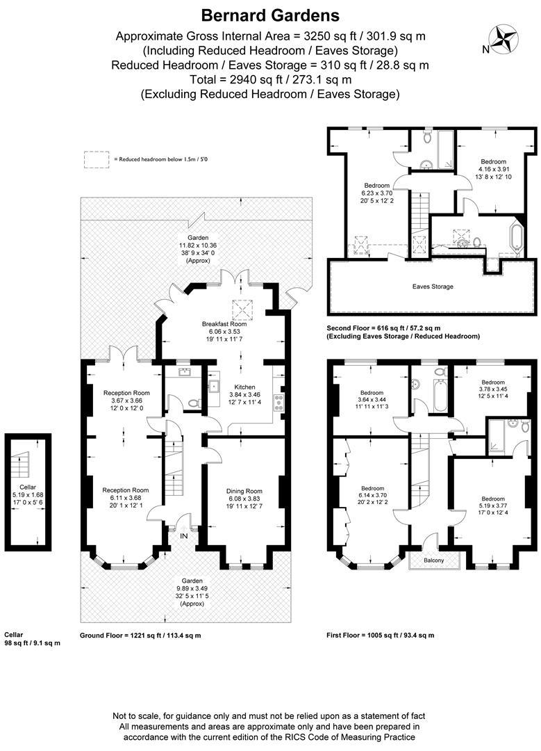 Floorplan for Bernard Gardens, London